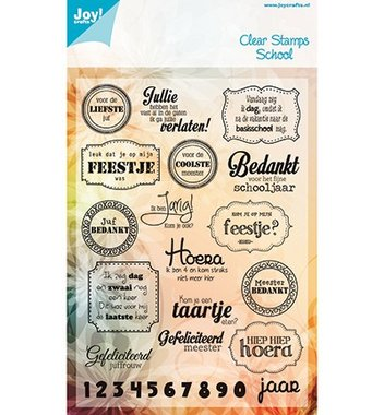 Clearstempel Joy! Crafts Voor de liefste juf 6410/0082