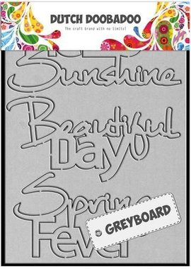 Dutch Doobadoo Dutch Greyboard Hello Sunshine A6