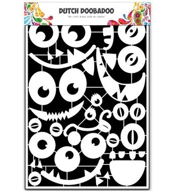 Dutch Doobadoo Paper art Monster faces