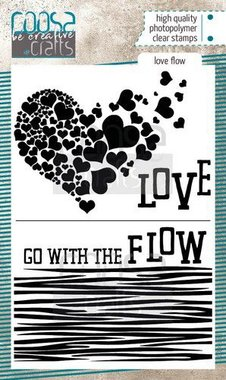 COOSA Crafts clearstamps A6 - Love Flow