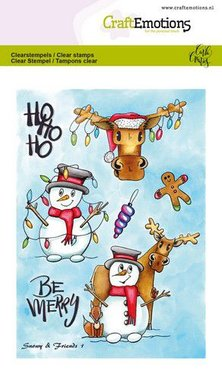 CraftEmotions clearstamps A6 - Snowy & friends 1 Carla Creaties