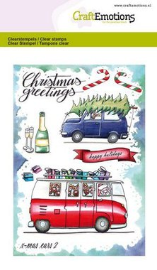 CraftEmotions clearstamps A6 - x-mass cars 2 Carla Creaties