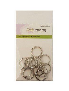 CraftEmotions Klik ringen / boekbindersringen 25mm 12 st.