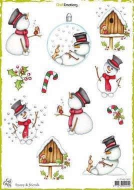 CraftEmotions Decoupage vellen Snowy & friends A4 170 grm Carla Creaties