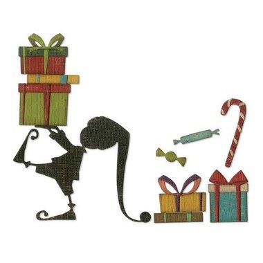 Sizzix Thinlits Die Set - 11PK Santa's Helper 664192 Tim Holtz