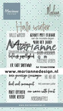 Marianne Design Clear Stamps Marleen's Hallo winter (NL) CS1036