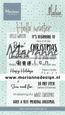 Marianne Design Clear Stamps Marleen's Hello winter (Eng) CS1037