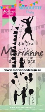 Marianne Design Clear Stamps Silhouette Party - 25e verjaardag CS1038