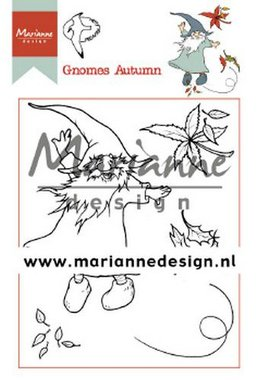 Marianne Design Clear Stamp Hetty's Gnomes herfst HT1647