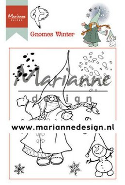 Marianne Design Clear Stamp Hetty's Gnomes winter HT1648