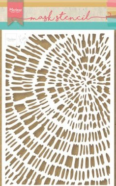 Marianne Design Stencil Tiny's Sliced Wood PS8040