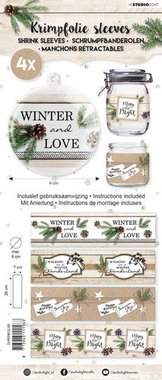 Studio Light krimpfolie Handlettering Winter and Love