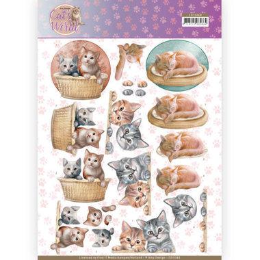 3D Knipvel - Amy Design - Cats World - Kittens