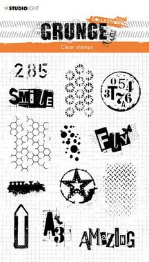 Studio light Clear Stamp Grunge Collection 3.0 nr 408