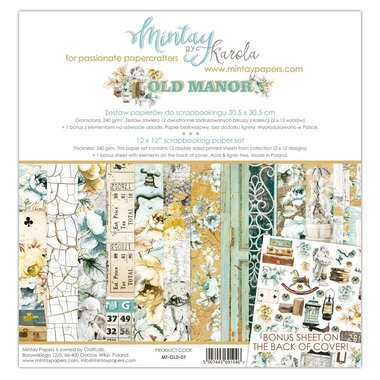 Mintay paperset Old Manor 30,5 x 30,5 cm