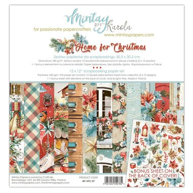 Mintay paperset Home For Christmas 30,5 x 30,5 cm