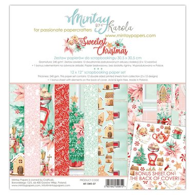 Mintay paperset The Sweetest Christmas 30,5 x 30,5 cm