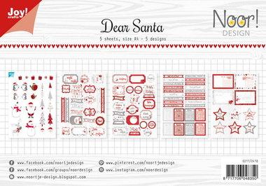 Joy! labelsheets cuttingsheet Dear Santa 6011/0418