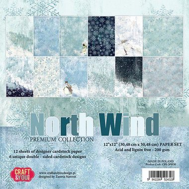 Craft&You North Wind BIG Paper Set 12x12 12 vel