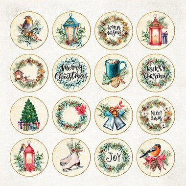 Craft&You Christmas Vibes Sheet elements to be cut out 12X12