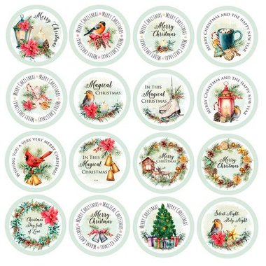 Craft&You Christmas Vibes Die-cuts -Chrisctmas Vibes - (Eng)