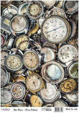 Cadence rijstpapier oude horloges