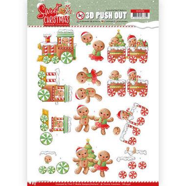 3D Pushout - Yvonne Creations - Sweet Christmas - Sweet Cookies