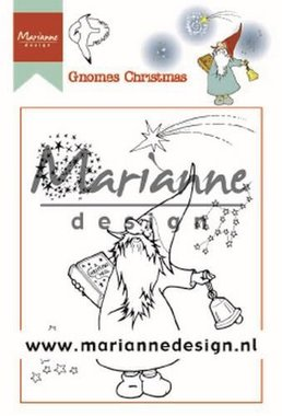 Marianne Design Clear Stamps Hetty's Gnomes Kerst HT1649