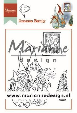 Marianne Design Clear Stamps Hetty's Gnomes Familie HT1650