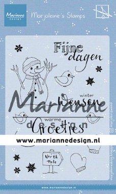Marianne Design Clear Stamps Marjoleine's Sneeuwman MZ1905