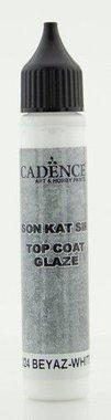 Cadence Top Coat Glaze - voor Beton effect Wit 25ml