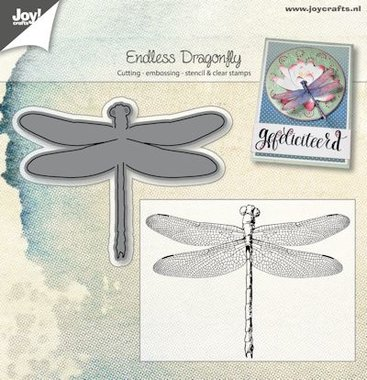 Joy! stempel met mal endless libelle 6004/0025