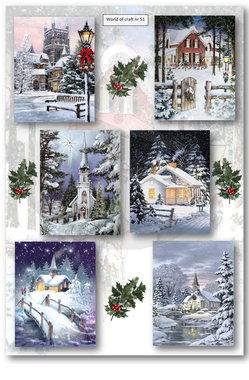 World of Craft Knipvel A4 Winter tafereel Nr51