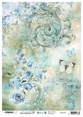 Studio Light Rice Paper A4 vel Jenine's Mindful nr 01