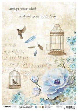 Studio Light Rice Paper A4 vel Jenine's Mindful nr 02