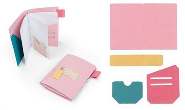 Sizzix Bigz XL Die - Traveler's Notebook Pages & Pockets  Katelyn Lizardi