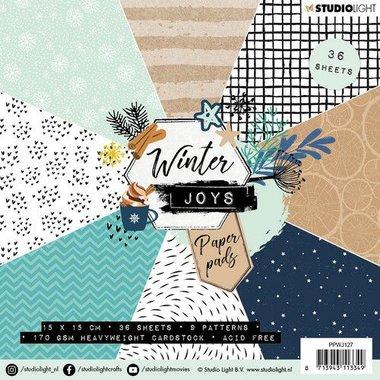 Studio Light Paper pad 36 vel Winter Joys nr 127 15x15cm