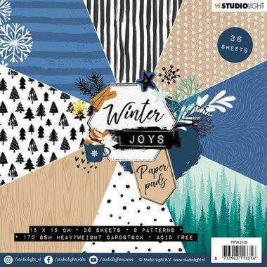 Studio Light Paper pad 36 vel Winter Joys nr 128 15x15cm
