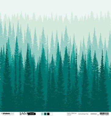 Studio Light Scrap Dubbelzijdig Winter Joys nr 04  304x304 mm 200gr