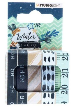 Studio Light Washi tape 5 rls 5 mtr Tape Winter Joys nr 05