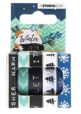 Studio Light Washi tape 5 rls 5 mtr Winter Joys nr 06