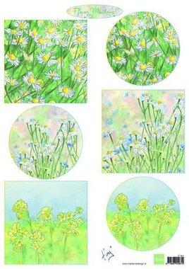 Marianne Design 3D Knipvellen Tiny's bloemenweide 1 A4