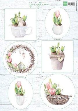 Marianne Design 3D Knipvellen Tulips & willow cats VK9565 A4