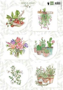 Marianne Design 3D Knipvellen Herbs & leaves 2 EWK1255