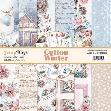 ScrapBoys paperpad Cotton Winter