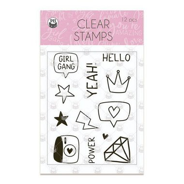 Piatek13 - Clear stamp set Girl Gang 01