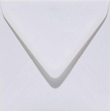 Papicolor Envelop vierk. 14cm hagelwit 105gr - 6 st