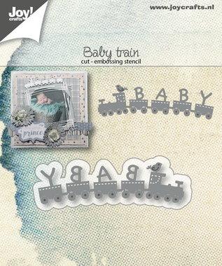 Joy! stencil baby trein 6002/1407