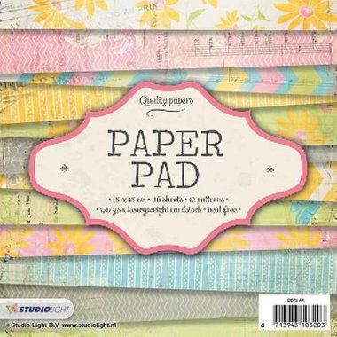 Studio Light Paper pad 36 vel 12 designs nr 68 15x15 cm