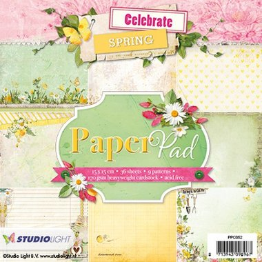 Studio Light Paperpad Celebrate Spring nr 52 15x15 cm